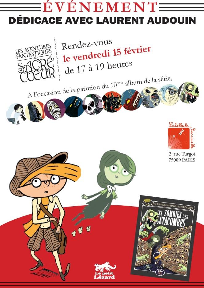 affiche 15 février - 10 ans Sacré-Coeur - libellule et coccinelle