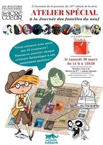 affiche atelier 10 ans Sacré-Coeur Libellule et Coccinelle 30 mars